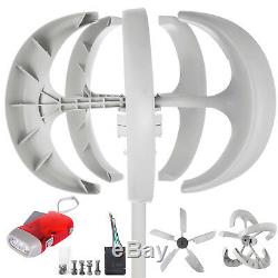 Wind Turbine Generator 400W 12V WithCharge Controller Turbines Vertical White