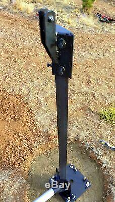 Wind Turbine Generator Base Gin Pole Assembly to Raise or Lower your Mount