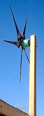 Wind slave 3 green blades power core wind generator, Survival bush craft