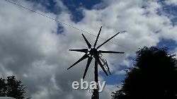 Wind turbine Heavy duty dual PMA furling, 3 phase to DC 8 blade T-rex blades UK