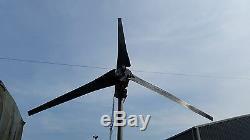 Wind turbine generator 48 volts DC power 1500 watt add to solar generator system