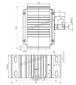 WindZilla 12 V AC MAX 3200 W Permanent Magnet Wind Turbine Generator PMA
