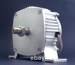 1.8kw 24v Ac 6 X 62 Turbine Lame Noire Aérogénérateur + Contrôleur + Dump Charge