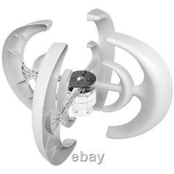 10000w 4 Lames 24v Lanterne Automatique Générateur De Turbine Éolienne Axis Vertical