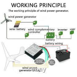 10000w Max Power 3 Lames DC 12v Wind Turbine Generator Kit Avec Contrôleur De Charge