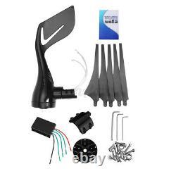 1000w 12v 24v 5 Bladea Home Wind Turbine Charge Generator+controller Horizontal