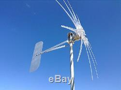 1000w Wind Turbine Générateur Fantôme 10 Prop Clair 24 Volts Ac 3 Phases / 3 Fils