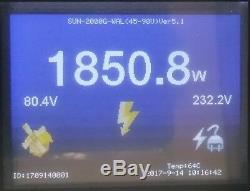 1000w Wind Turbine Generator Sur La Grille Tie Inverter Sun 1000g2 Wal Avec Une Charge De Décharge