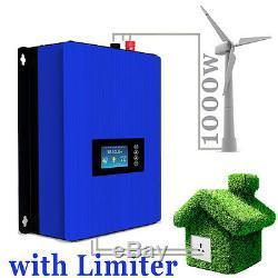 1000w Wind Turbine Generator Sur La Grille Tie Inverter Sun 1000g2 Wal Limiteur 1kw