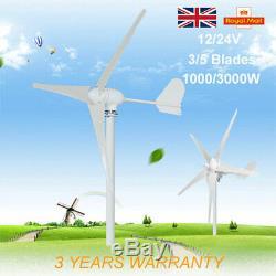 1000with3000w Éolienne Générateur Kit 3/5 Lames Contrôleur De Charge D'alimentation Accueil