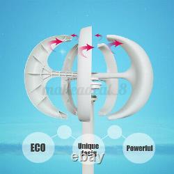 12/24v 5 Lames Lanterne Générateur D'éoliennes Vertical Axis Home Power Lantern