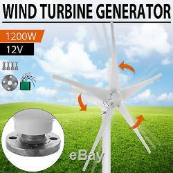 1200w 12v Wind Turbine Generator Avec Le Contrôleur Chargeur D'alimentation D'énergie DC