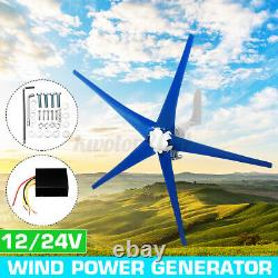 1200w Max Power 5 Lame DC 24v Générateur De Turbine À Vent Avec Contrôleur De Charge