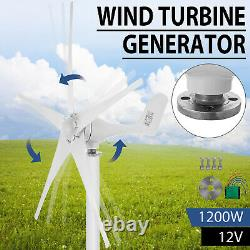 1200w Max Power 5 Pales DC 12v Wind Turbine Generator Kit W Charge Controller
