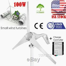 12v 100w Génératrice De L'éolienne Kit Avec Contrôleur De Charge Boat House Garden Us