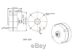 12v / 24v 100-400w Aimant Permanent Générateur Alternateur Éolienne Générateur