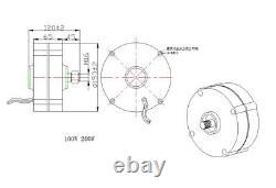 12v/24v 100-400w Générateur Permanent D'alternateur D'aimant Générateur De Turbine Éolienne