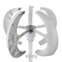 12v 400w Blanc Lanternes Éolienne Générateur Usstock Efficace Axe Vertical