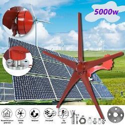 12v 5000w Max Power 5 Lames Wind Turbine Kit Générateur Avec Contrôleur De Charge