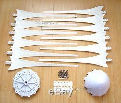12x 67 Wind Turbine Générateur Blades + Hub + Cône De Nez 12 Douille En Forme D'arbre 17mm