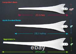 12x67wind Turbine Generator Blade+hub+nose Cone 12 Socket Fit Ametek 16mm Shaft