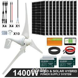 1400w 1000w 600w Kit Générateur De Puissance Hybride Wind & Solar Panel Kit Pour La Maison