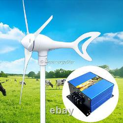 1500 W Watt Ac 24v Générateur De Turbine Éolienne 3 Lame + Contrôleur De Charge