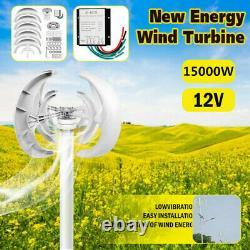 15000w DC 12/24v 4-blade Lanterne Générateur De Turbine Éolienne Axis Verticale Puissance Éolienne