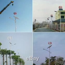 1500w 12v / 24v Lanterns 5 Lames Eoliennes À Turbine Verticale Contrôleur Axe +