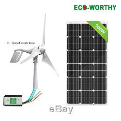 1750withday Hybride Kit 400w Wind Turbine Generator Avec Panneau Solaire 100w Système Home
