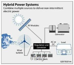 1750withday Kit Hybrid 400w Wind Turbine Générateur Et 100w Panel System Solar Home