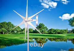1800 W Windzilla Pma 12 V Ac 6 Générateur De Turbine À Vent À Lame+225a Anneau De Glissement + Hub