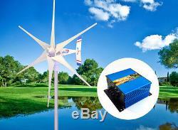 1800 W Windzilla Pma 12v Ac 6blade Éolienne Générateur + Hub + Bague + Chargeur