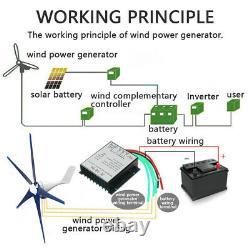 18000w 5 Pales Générateur D'éoliennes Horizontal 12v Energy Turbines Charge