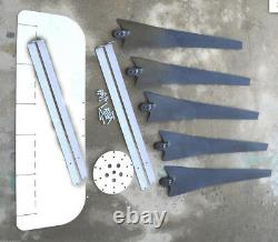 1850 Watt Générateur D'éoliennes 5 Blade Maxcore Pma 24 Acc 3/ph 7,4 Kwh Par Jour