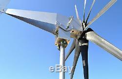 2000 Watt Typhoon 9 Noir Tilt Unibody Éolienne Générateur 24vac Roll / Zc