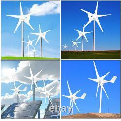 20000w Wind Turbine Generator Unit 5 Pales DC 12v Avec Contrôleur De Charge De Puissance