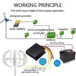 2021pro 800w Max 12v 5 Kits Générateurs D'axes Verticaux De Turbine Éolienne À Lame