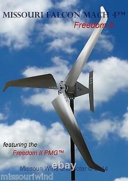24 Volt 2000 Watt Missouri Falcon Mach 4 80,5 Pouces Liberté II Éolienne