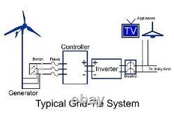 2kw Wind Generator System Grid-tie Wind Turbine Low Wind Speed /w 40' Tower