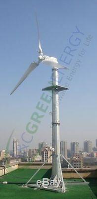 2kw Wind System Generator Grille-tie Wind Turbine Basse Vitesse Du Vent / W 50' Tour