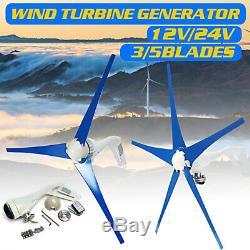 3000w 12/24 / 48v 3/5 Blades Éoliennes Générateur Horizontal Contrôleur De Charge