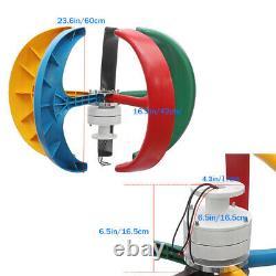 3000w 12v/24v Lantern Wind Turbine Generator 5 Blade Vertical Axis+ Contrôleur