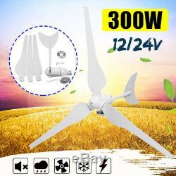 300w Max Power 3 Blades 12v / 24v Éolienne Générateur Kit Puissance Accueil