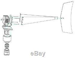 3200 W Windzilla Pma 12v Ac 12 Blades Éolienne Générateur + 225a Bague + Hub