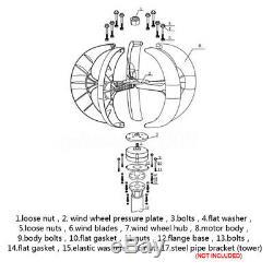 3200w 5 Lames Éoliennes À Axe Vertical Générateur Lanterns Contrôleur Kit
