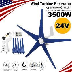 3500w 24v Wind Turbine Generator Avec Chargeur D'alimentation D'énergie Contrôleur Accueil Kit S