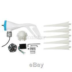 3700 / 4200w 3/5 Blades Générateur Eolien Kit Contrôleur De Charge D'alimentation 12 / 24v