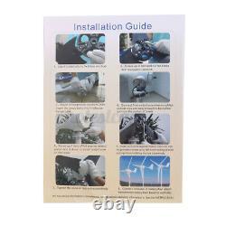 3700w Wind Turbine Genertor Kit 12/24v Avec Régulateur Contrôleur 3 Lames Pour La Maison
