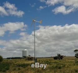 3kw Wind Power Turbine Vent Faible 3000w Générateur Complet Des Navires Par Mer Système
